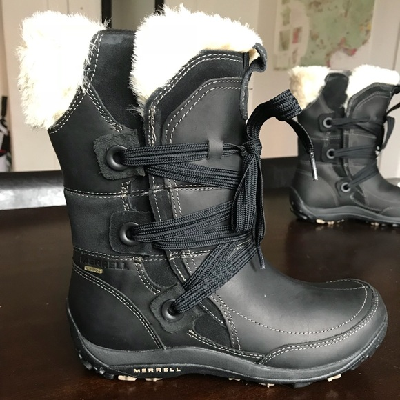 0d8af88f073f9 Merrell Shoes | Womens Size 9 Black Winter Boot | Poshmark
